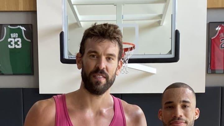 Raptors center Marc Gasol is looking much slimmer