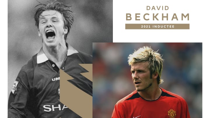 David Beckham has been inducted into the Premier League Hall of Fame