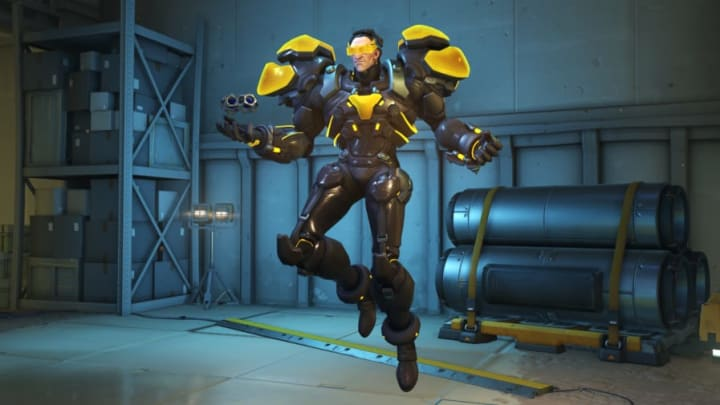Carbon Fiber Sigma is one of the new Overwatch Anniversary skins.