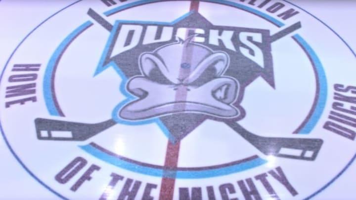 The new Mighty Ducks logo.