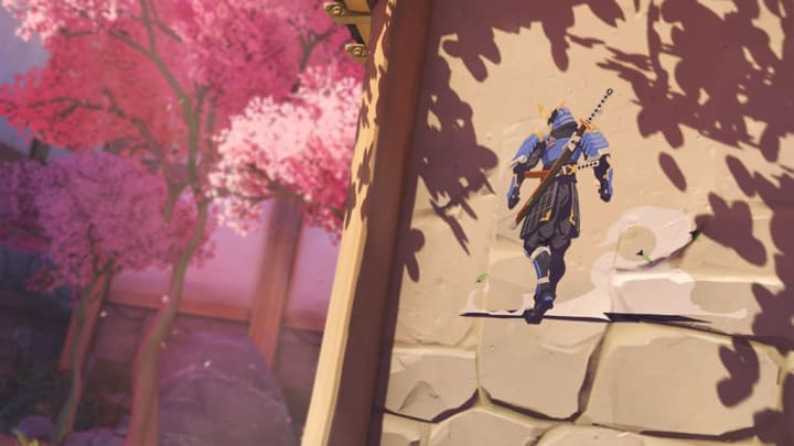 "Spray of Genji's new ""Bushi"" skin"