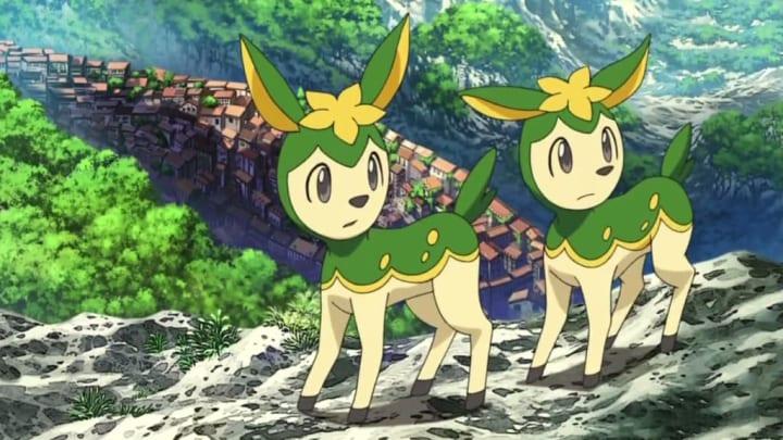 Summer Deerling in the Pokemon anime