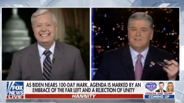 Lindsey Graham excited to promote his fundraiser.