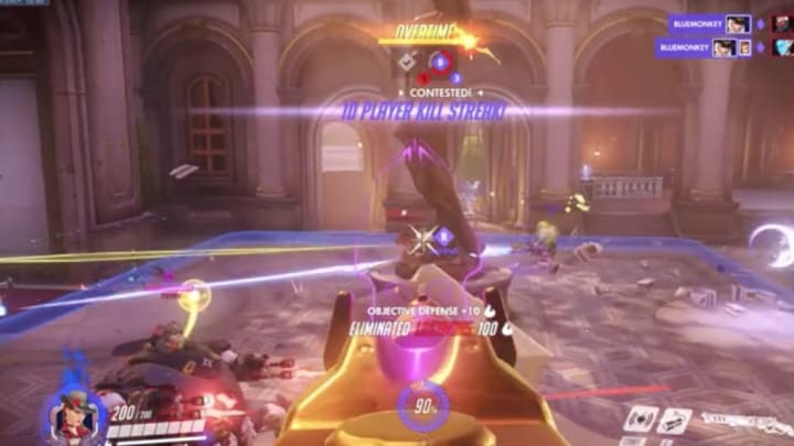 An Ashe was popping off on the point as the game teetered in overtime, when they decided to send their ultimate.