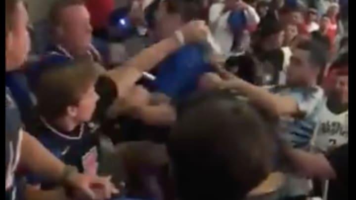 Clippers fan fight.