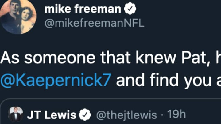 NFL writer Mike Freeman slammed Republican senator candidate JT Lewis for his Pat Tillman-Colin Kaepernick take.