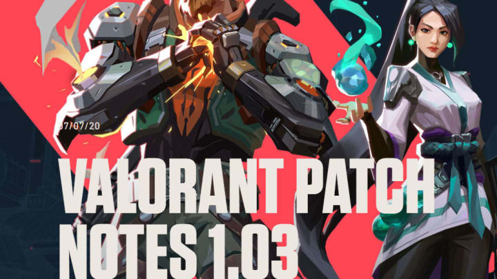 Valorant 1.03 Patch Notes make several changes to Guardian, Spike Rush, quality of life.