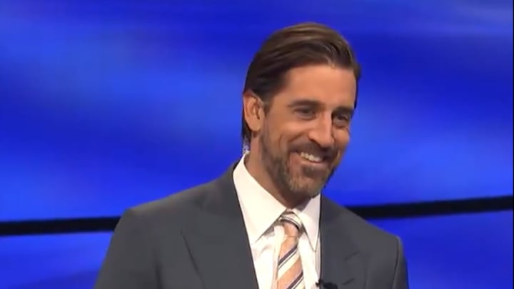"Aaron Rodgers guest hosting ""Jeopardy!"""