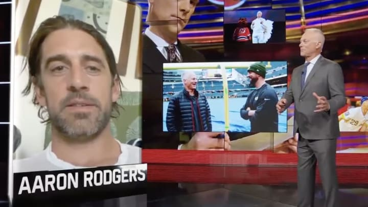 Aaron Rodgers and Kenny Mayne.