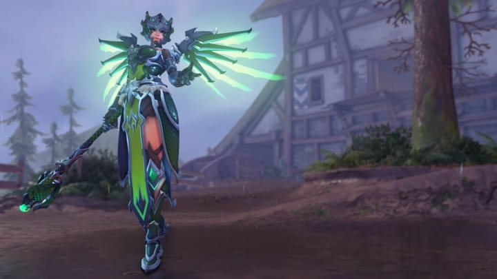 New Dragoon Mercy skin from the 2020 Overwatch Anniversary event.
