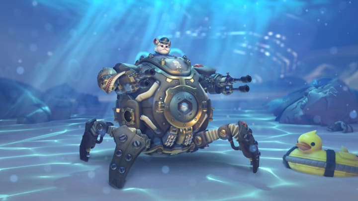 New Submarine Wrecking Ball skin from the 2020 Overwatch Anniversary event.