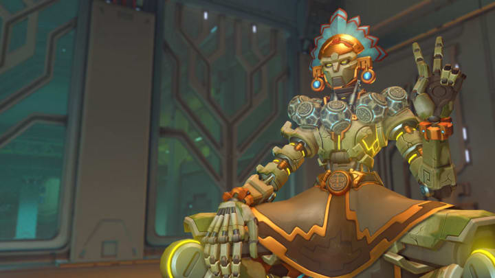 New Huitzilopochtli Zenyatta skin from the 2020 Overwatch Anniversary event.