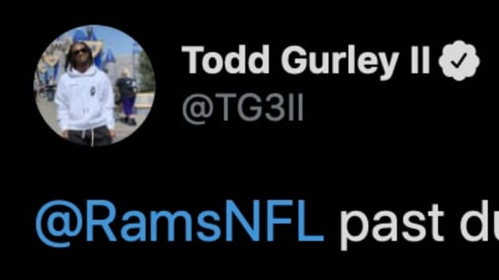 Atlanta Falcons running back Todd Gurley isn't about to let his former team fall behind on the payments he's owed.