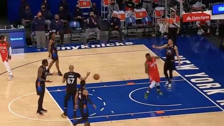Knicks confusion.