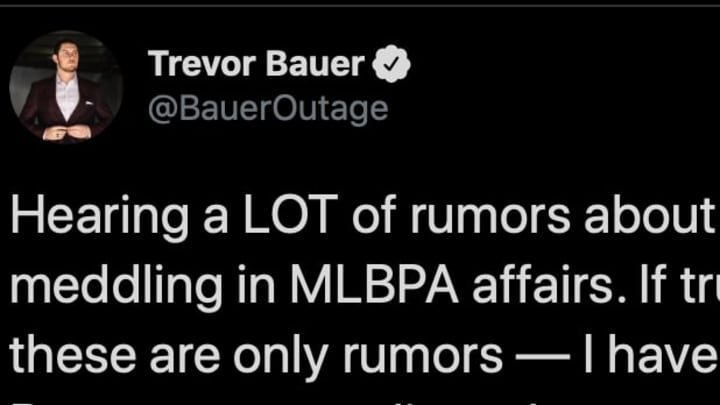 Trevor Bauer has taken the gloves off and gone after Scott Boras