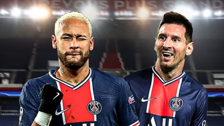 Neymar et Lionel Messi sous le maillot parisien.