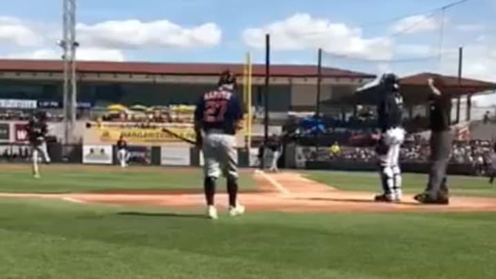 Houston Astros infielder Jose Altuve getting boo'd at Spring Training.