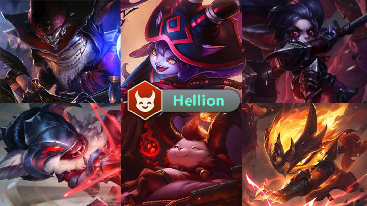 Hellion has six champions: Ziggs, Lulu, Poppy, Kled, Teemo, and Kennen.