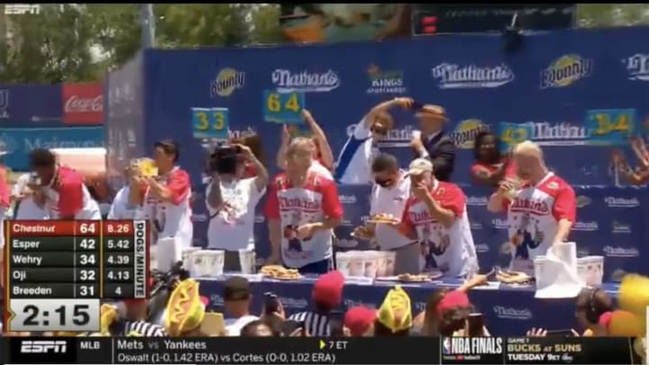 The ESPN feed had issues during the 2021 Hot Dog Eating Contest.