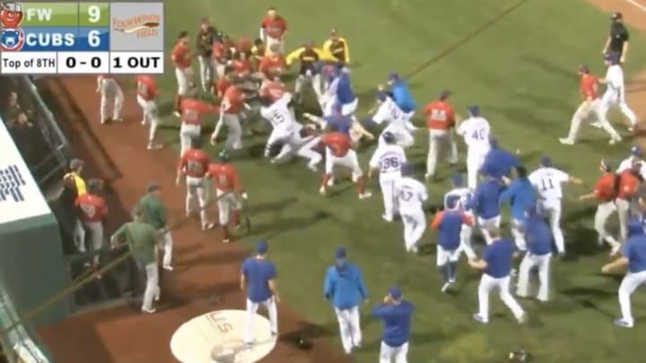 Minor league brawl.