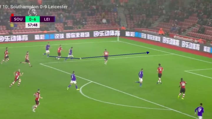 Chilwell in attack against Southampton