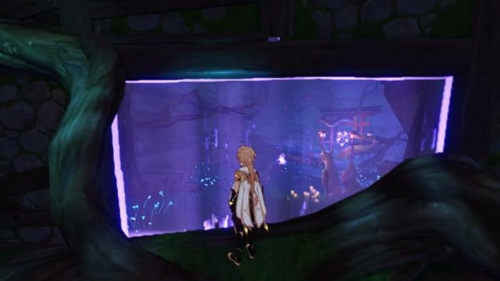 Genshin Impact screenshot, electro barrier