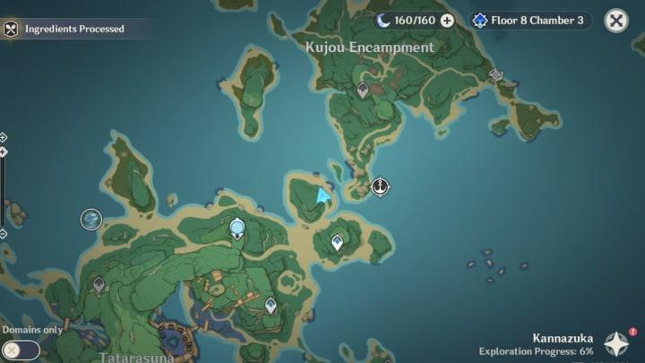 Genshin Impact Inazuma map
