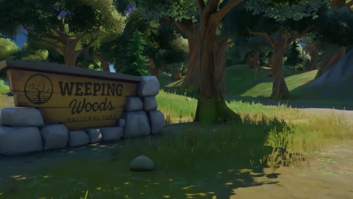 Weeping Woods is a location that pays homage to Wailing Woods, a location no longer found in Fortnite.