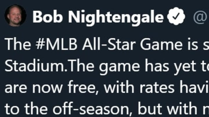 Bob Nightengale is focused on the MLB All-Star Game when no one else is.