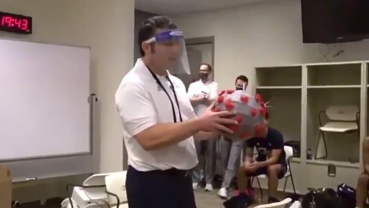 Josh Pastner and a COVID ball.