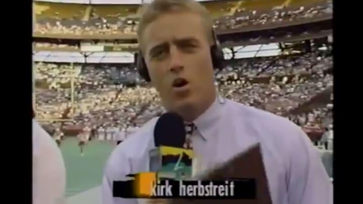 Kirk Herbstreit in 1995 on the deuce.