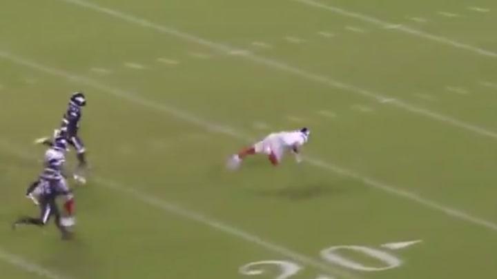 Daniel Jones falling.