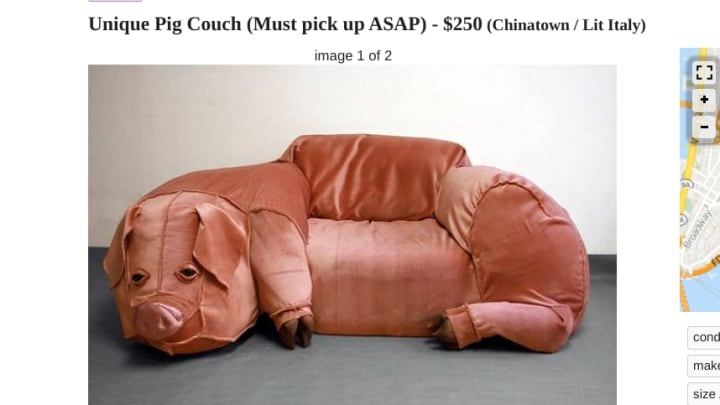 Who wouldn't want this pig couch whole hog?