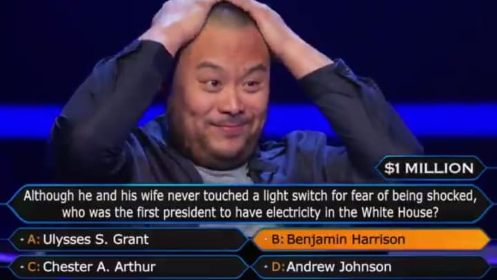 David Chang on 'Millionaire'