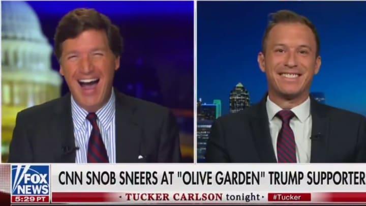 Tucker Carlson loves Olive Garden.