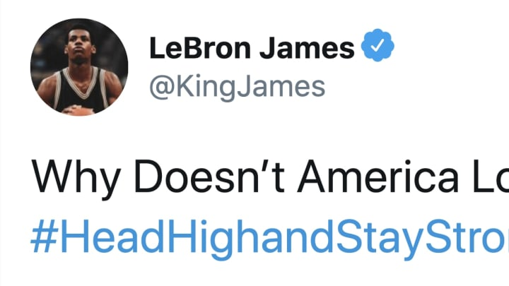 LeBron called for hope and unity amid the protests