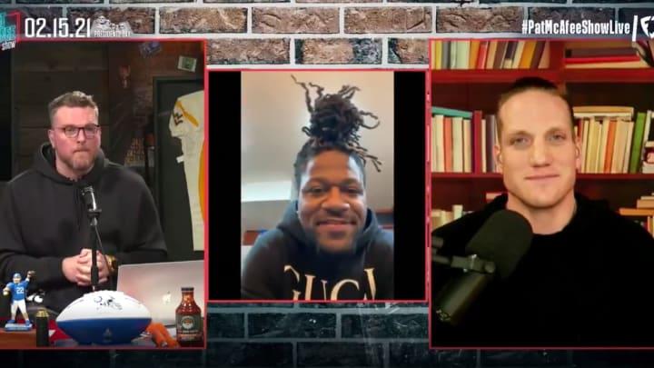 Pacman Jones with Pat McAfee and AJ Hawk.