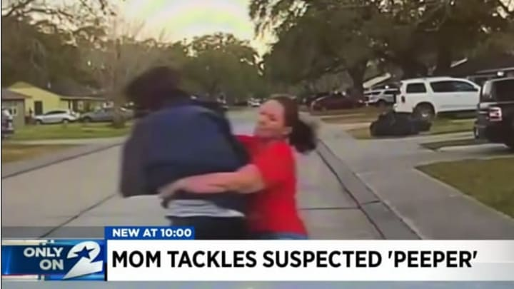 Mom tackle.