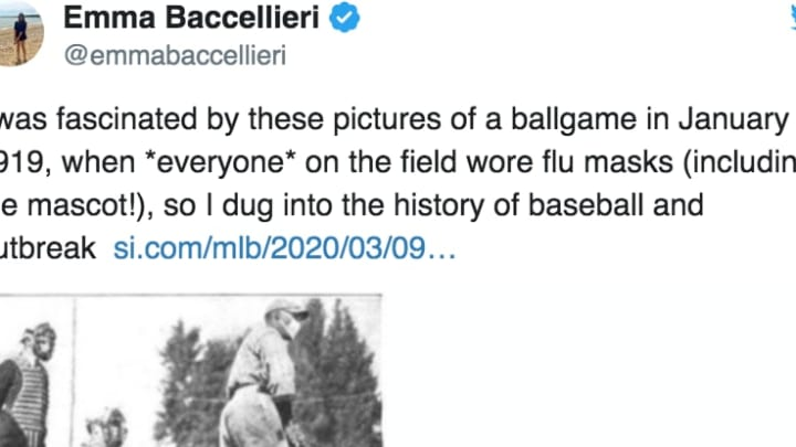 Not even the Spanish Flu could stop baseball in 1919.