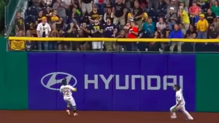 Milwaukee Brewers 2B Carlos Asuje drilled a Pittsburgh Pirates fan where it hurts back in 2017.