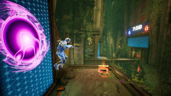 Splitgate's portal in action