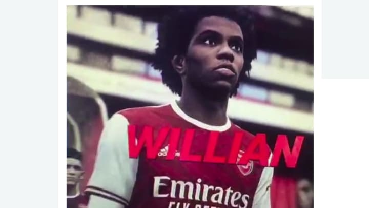 Chelsea Star Willian Pictured in Arsenal Kit on Leaked PES 2021 Video