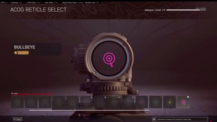 Call of Duty: Bullseye Reticle