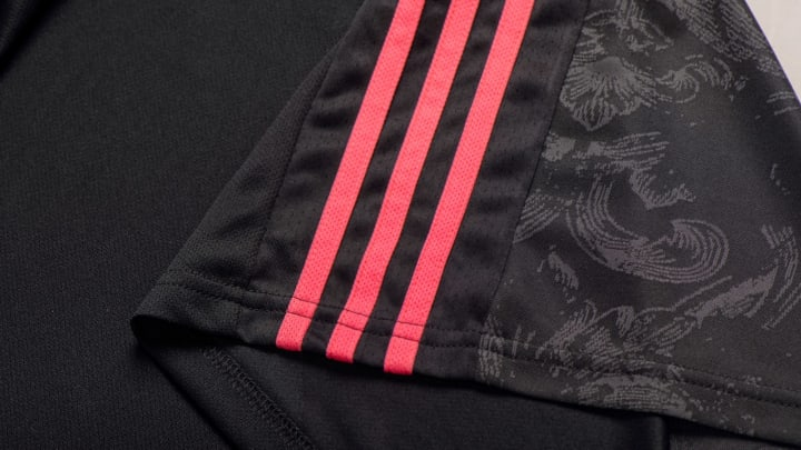 The classic three Adidas stripes