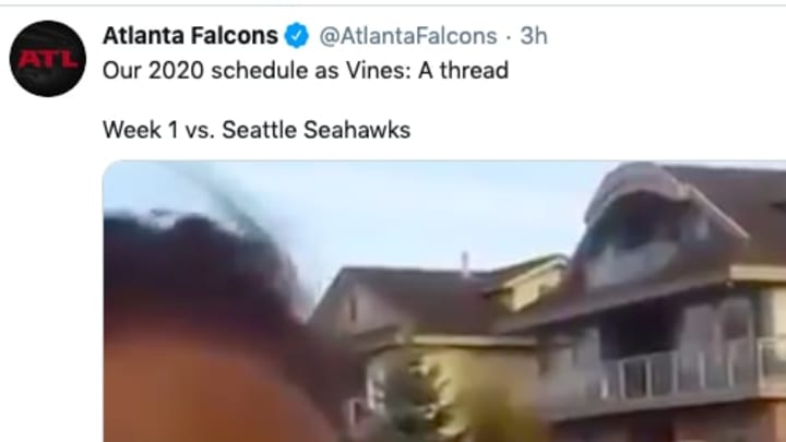 The Falcons detailed their entire 2020 schedule with the use of Vines.