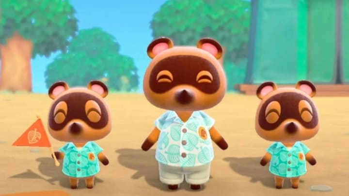 "Tom Nook and the ""Nooklings"" in New Horizons"