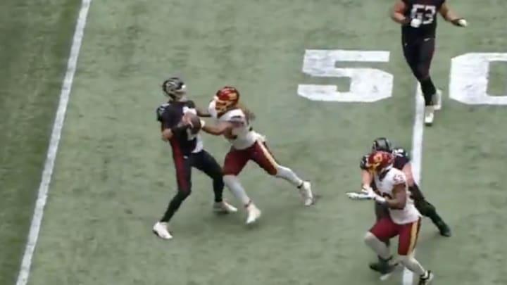 Chase Young hits Matt Ryan. Lightly.
