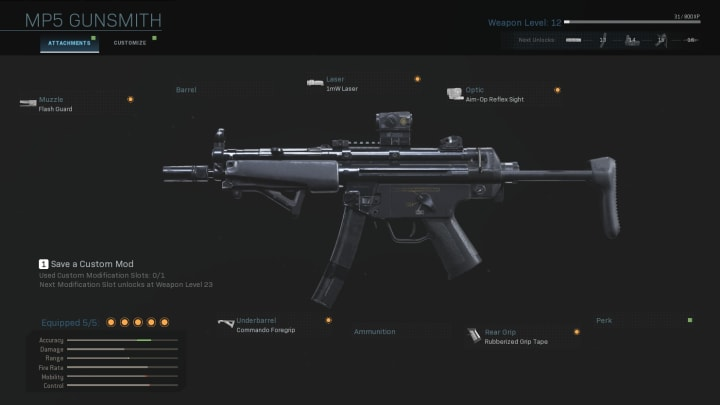 These are the best attachments to use on the MP5 in Warzone.