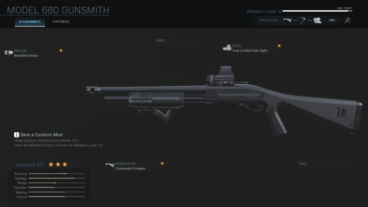 The Model 680 in Call of Duty: Warzone.