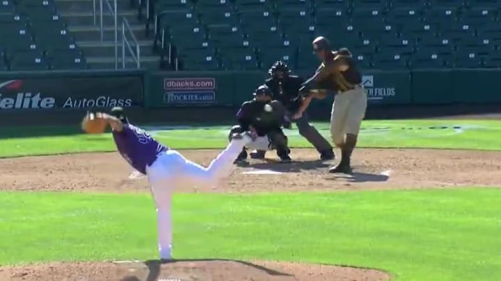 Joshua Mears launched a spring training home run